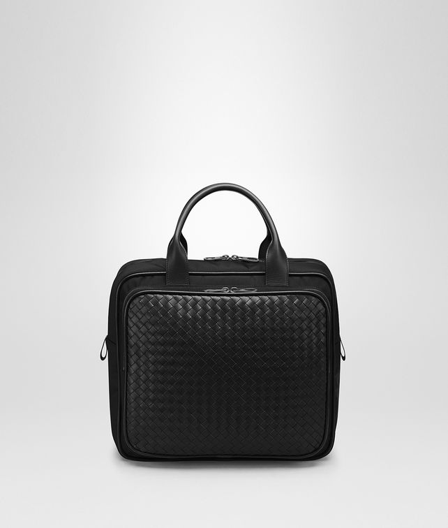 BOTTEGA VENETA TRAVEL BAG IN NERO TECHNICAL CANVAS Luggage E fp