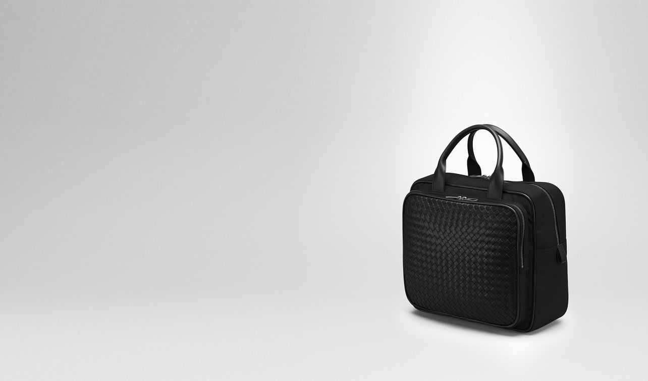 travel bag in nero technical canvas landing