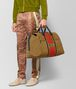 BOTTEGA VENETA DARK CAMEL TERRACOTTA VIALINEA DOUBLE SUEDE DUFFLE Luggage Man ap