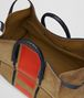 BOTTEGA VENETA DARK CAMEL TERRACOTTA VIALINEA DOUBLE SUEDE DUFFLE TOTE BAG Man dp
