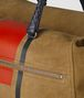 dark camel terracotta vialinea double suede duffle Back Detail Portrait