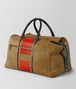 BOTTEGA VENETA DARK CAMEL TERRACOTTA VIALINEA DOUBLE SUEDE DUFFLE Luggage Man rp
