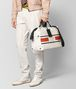 BOTTEGA VENETA LATTE TERRACOTTA VIALINEA CANVAS DUFFLE Luggage Man ap