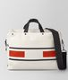 BOTTEGA VENETA LATTE TERRACOTTA VIALINEA CANVAS DUFFLE Luggage Man fp