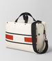 BOTTEGA VENETA LATTE TERRACOTTA VIALINEA CANVAS DUFFLE Luggage Man rp