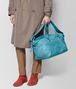 BOTTEGA VENETA AQUA INTRECCIATO CHECKER DUFFLE Luggage Man ap