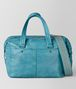 BOTTEGA VENETA AQUA INTRECCIATO CHECKER DUFFLE Luggage Man fp