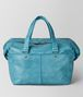BOTTEGA VENETA AQUA INTRECCIATO CHECKER DUFFLE Luggage Man lp