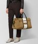 BOTTEGA VENETA DARK CAMEL LATTE VIALINEA DOUBLE SUEDE DUFFLE Luggage Man ap