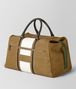 BOTTEGA VENETA DARK CAMEL LATTE VIALINEA DOUBLE SUEDE DUFFLE Luggage Man rp