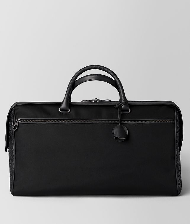BOTTEGA VENETA NERO HI-TECH CANVAS DUFFLE Travel Bag [*** pickupInStoreShippingNotGuaranteed_info ***] fp