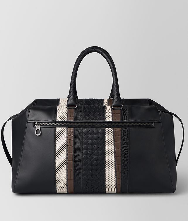 BOTTEGA VENETA NERO NAPPA/PRECIOUS MIX STRADE DUFFLE Travel Bags [*** pickupInStoreShippingNotGuaranteed_info ***] fp