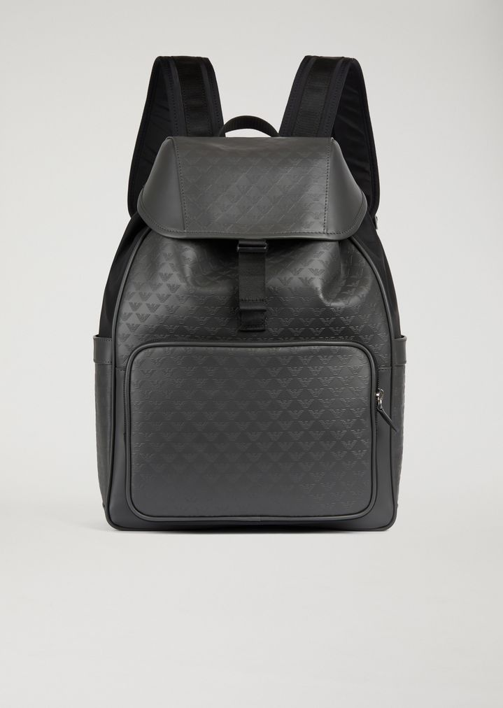 e72faec19490 Backpack with all-over logo print