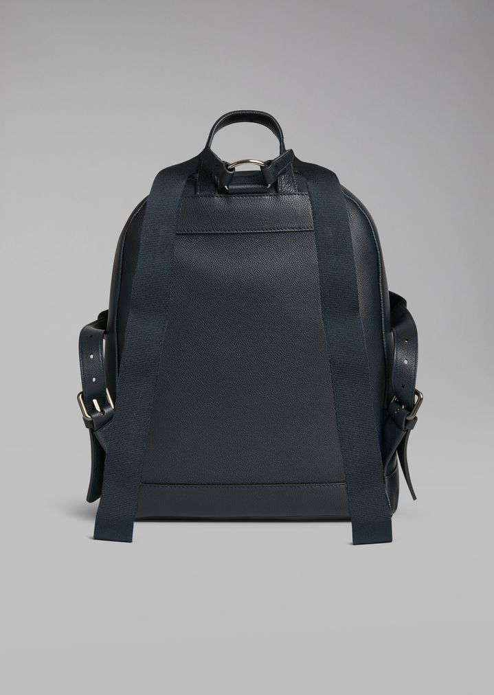 d22bb43af8 ... Backpack in grainy calfskin with embossed logo. GIORGIO ARMANI