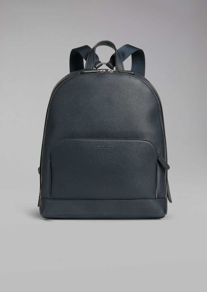 753d47850b Backpack in grainy calfskin with embossed logo