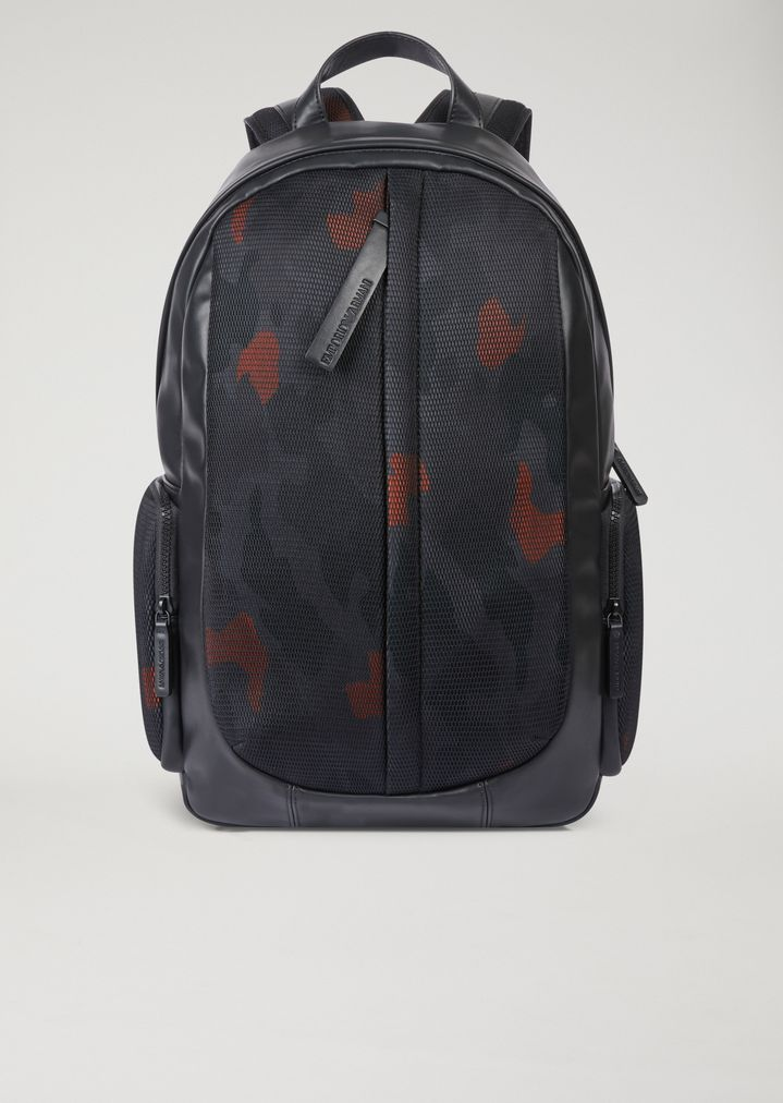 88260c845bcb Backpack with mesh camouflage pattern