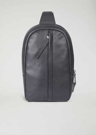 f826b311ba Hammered leather one-shoulder backpack