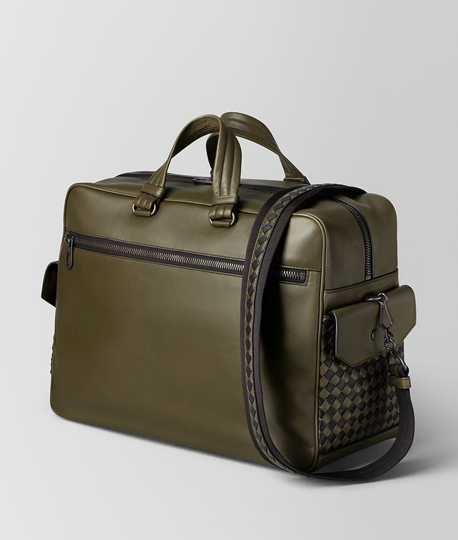 BOTTEGA VENETA BORSA THE MAJOR IN VITELLO BUTTER MUSTARD/NERO Valigeria Uomo fp