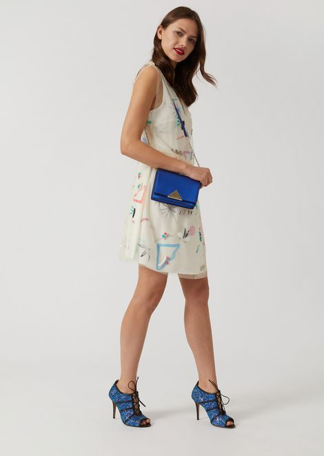LAMINATED LEATHER CROSS-BODY BAG