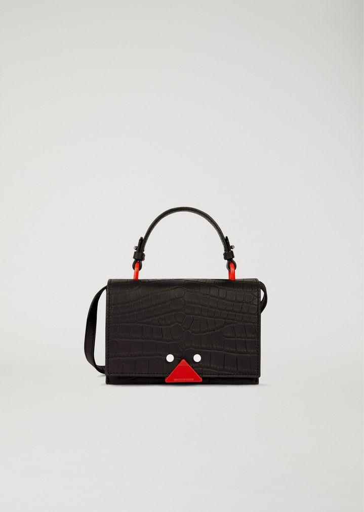 f87eaa9de11 Mini sac en cuir imprimé crocodile