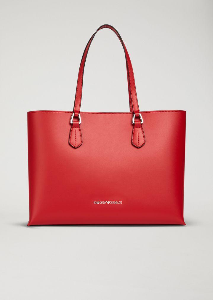 331051cad00f EMPORIO ARMANI Faux leather shopper Shopper Woman f