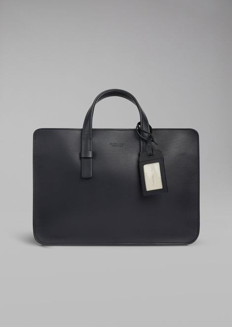 Smooth leather briefcase