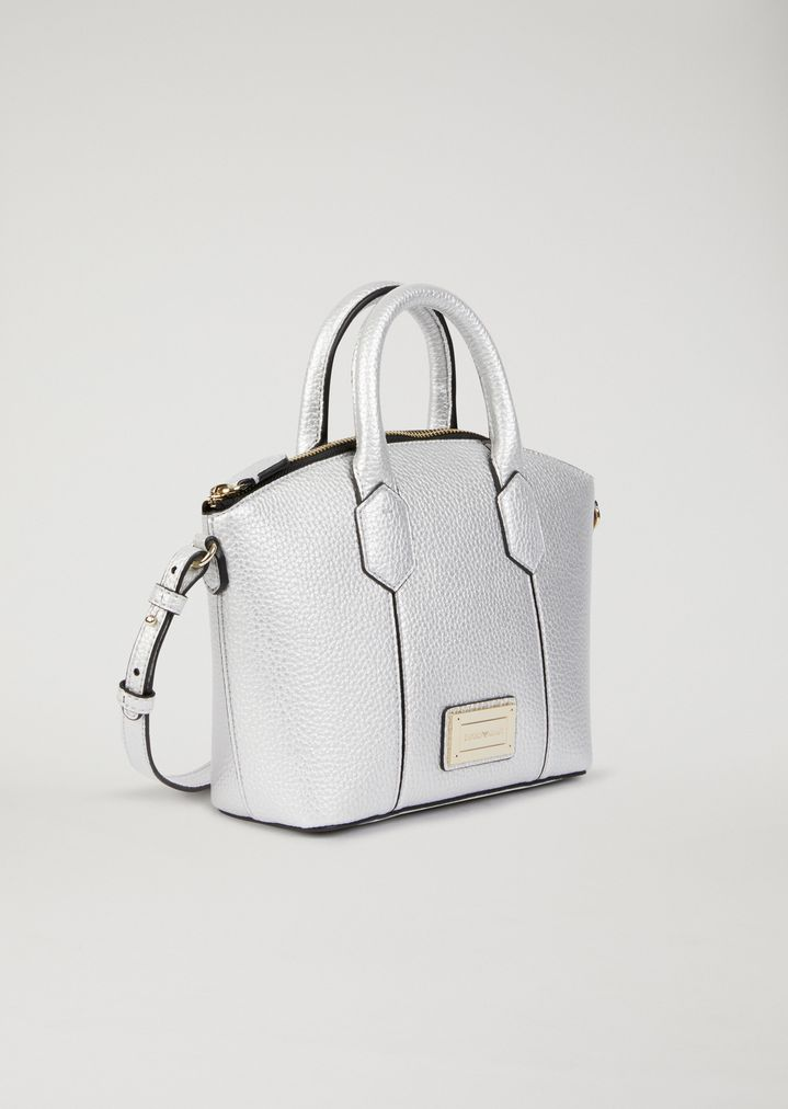 575f3751725a Mini bag in hammered faux leather