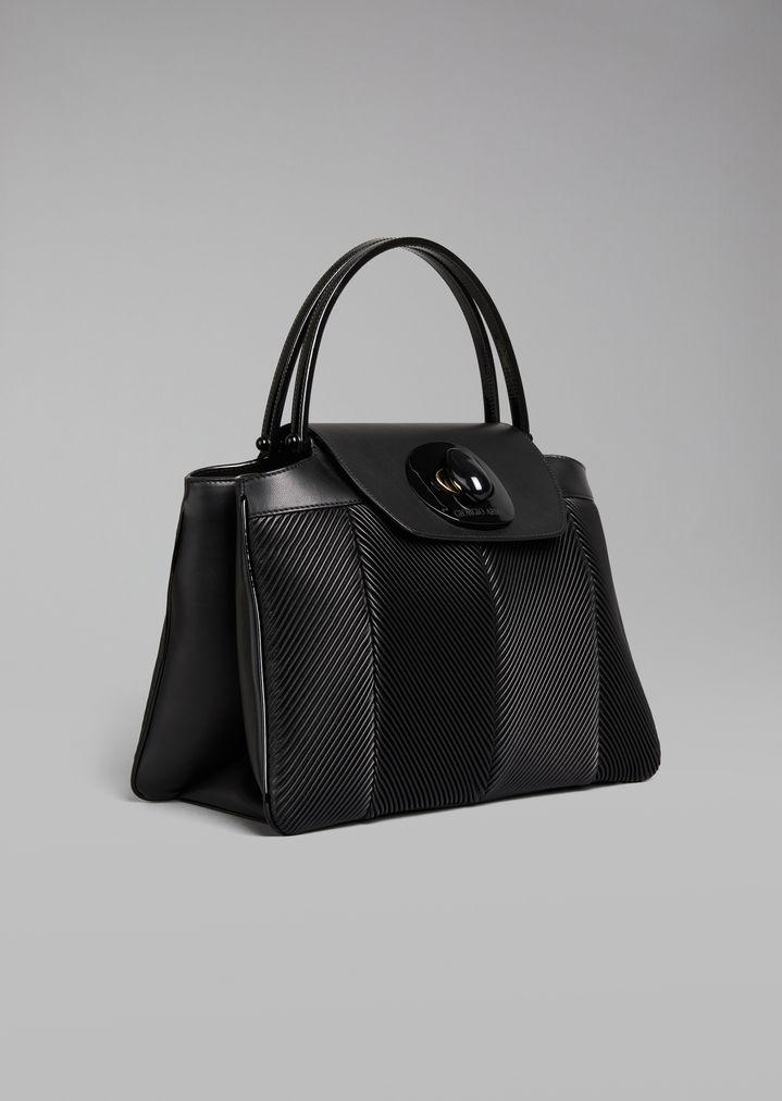 ... Top Handle bag in leather. GIORGIO ARMANI ad362ce67b2cc