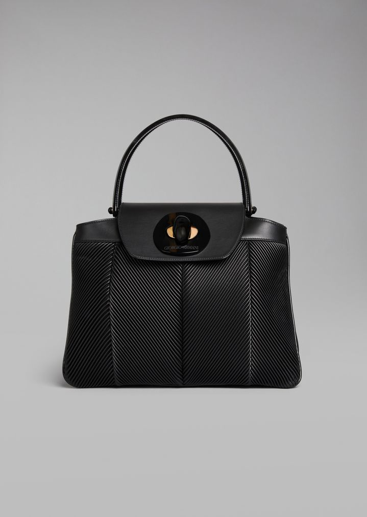 Top Handle bag in leather  4c414b2aaef41