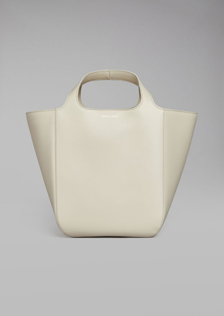 Plain leather shopper bag  3aec2f1be87b