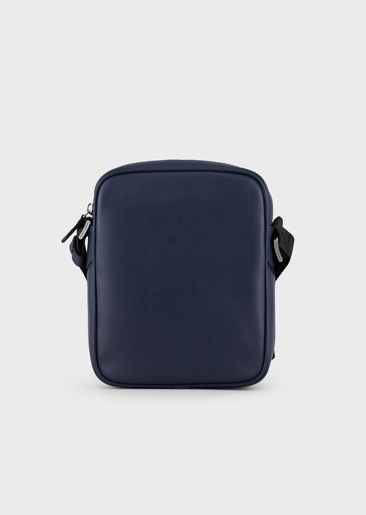 ... Cross body bag in boarded printed leather. EMPORIO ARMANI c84db32972bb9