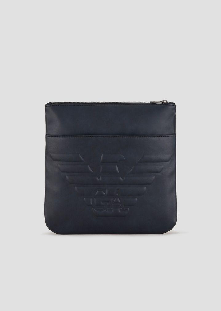 0f994937 FAUX LEATHER CROSSBODY BAG WITH MAXI LOGO | Man | Emporio Armani