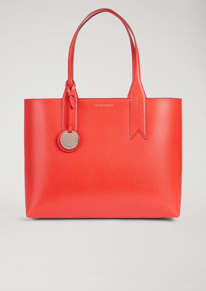 Emporio Armani Tote Bag With Logo Charm Per Woman F