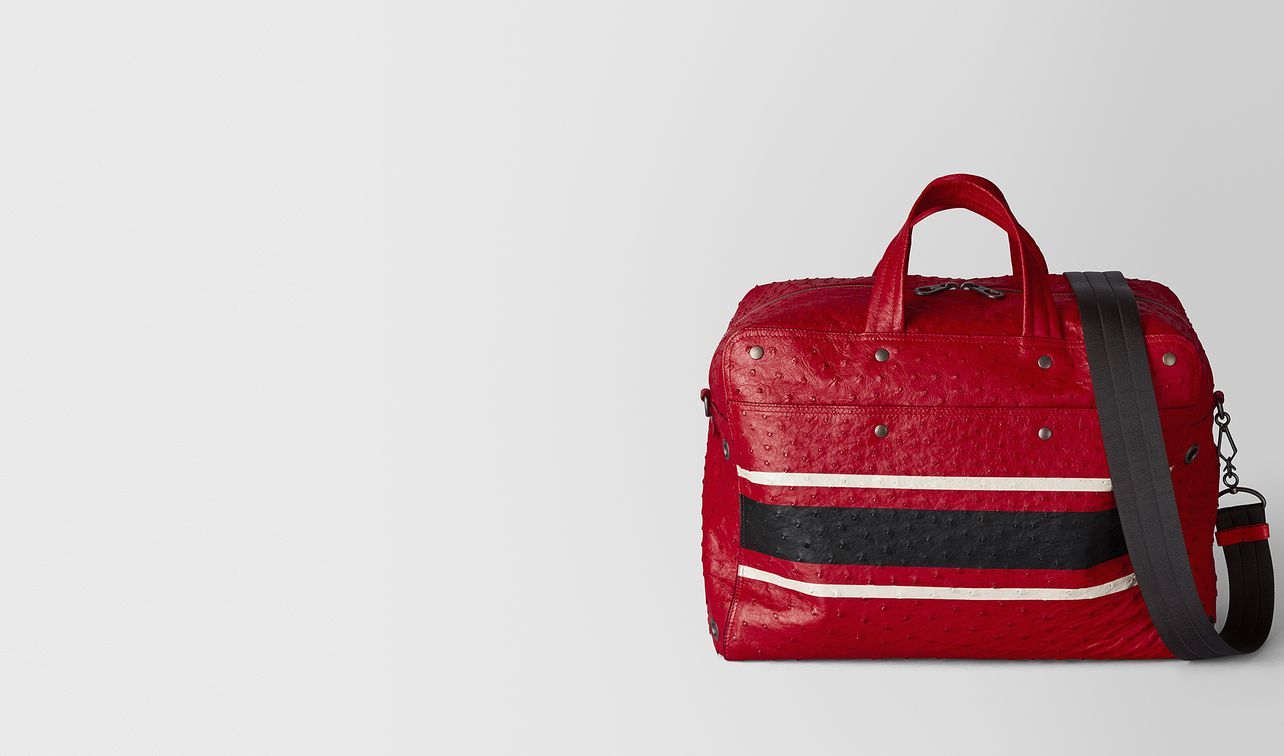 duffel bag aus straussenleder in china red nero landing