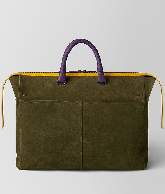 BOTTEGA VENETA MULTICOLOR DOUBLE SUEDE DAY TOTE Luggage Man fp