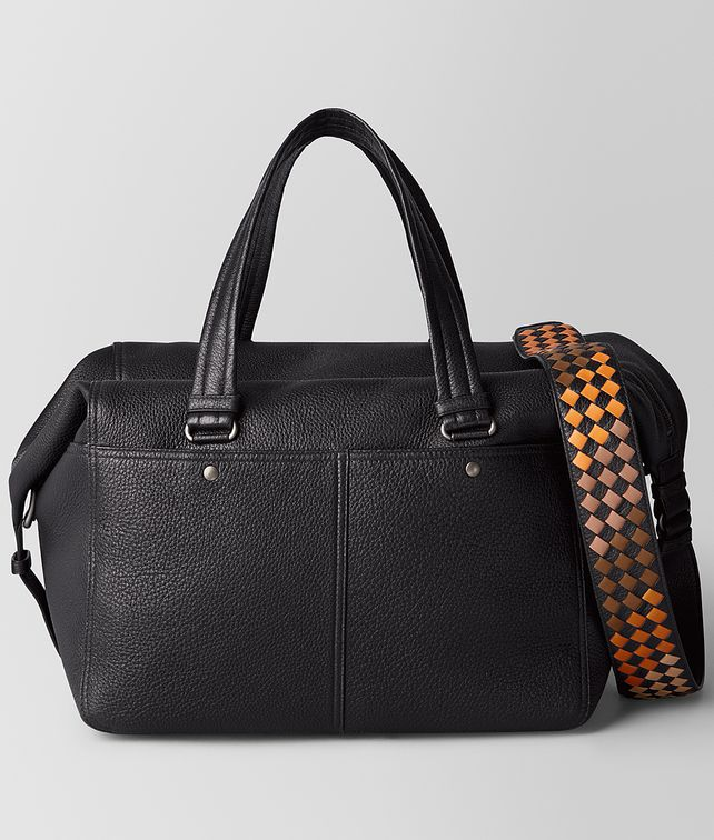 BOTTEGA VENETA NERO/DARK LEATHER CERVO DUFFEL Luggage [*** pickupInStoreShippingNotGuaranteed_info ***] fp