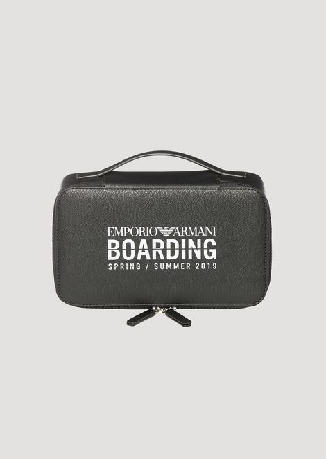 4a23c191d2a9 Emporio Armani Boarding capsule collection toiletry case with zip