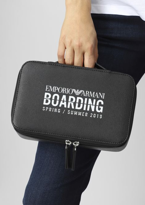 Emporio Armani Boarding capsule collection toiletry case with zip