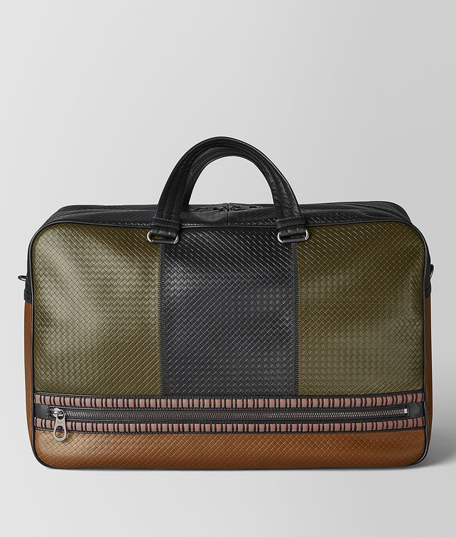 BOTTEGA VENETA DUFFLE IN MICRO-INTRECCIATO EMBOSSED Luggage [*** pickupInStoreShippingNotGuaranteed_info ***] fp