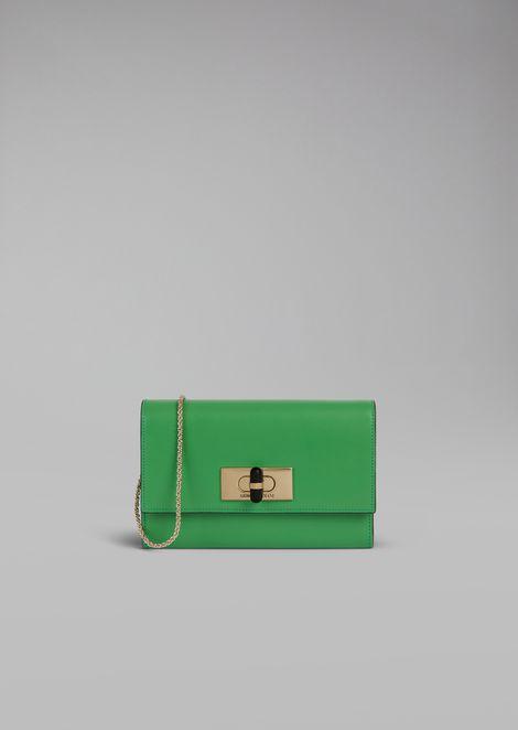 Mini-borsa portafoglio Borgonuovo 11  con catena in pelle