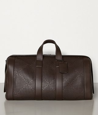 LARGE DUFFLE IN PERFORATED MATTE CALF