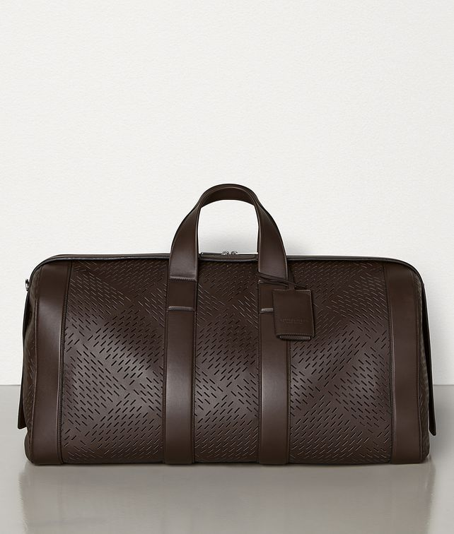 BOTTEGA VENETA LARGE DUFFLE BAG IN PERFORATED MATT CALFSKIN Travel Bags Man fp