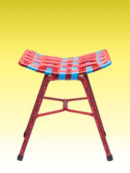 Marni Red woven stool Man