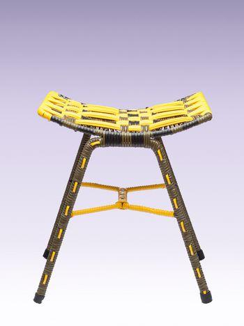 Marni Yellow woven stool Man