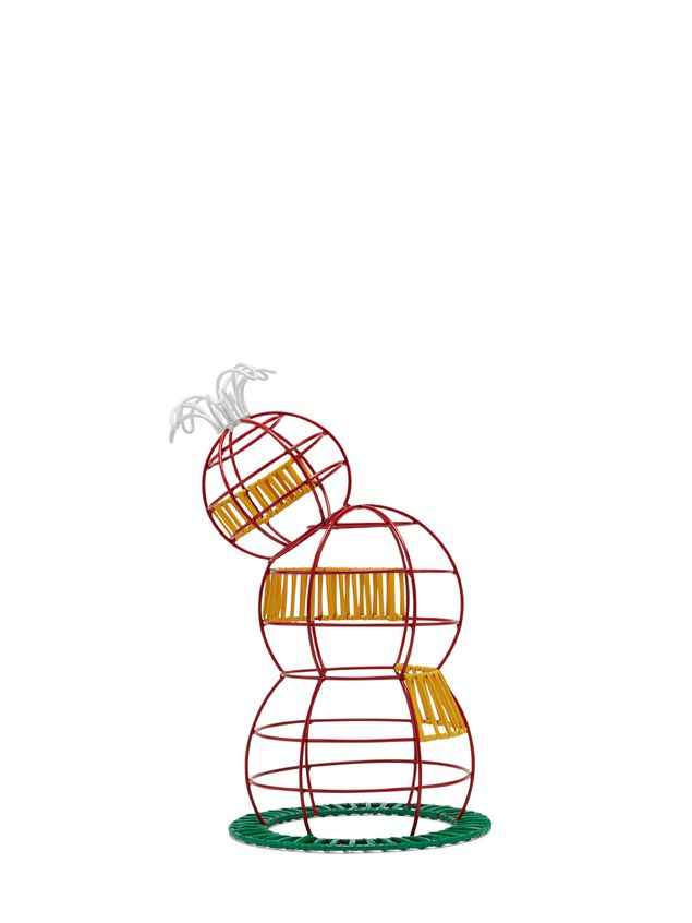 Marni MARNI MARKET cactus sculpture with 1 flower & multicolored base Man