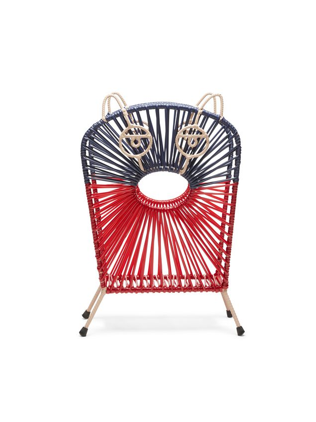 Marni MARNI MARKET red and blue cat magazine rack in iron  Man