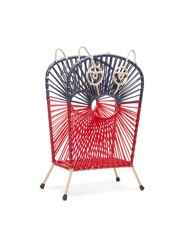 Marni MARNI MARKET red and blue cat magazine rack in iron  Man - 2
