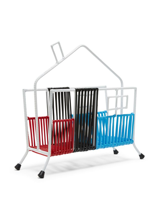 Marni MARNI MARKET white, black, red and blue house magazine rack in iron  Man - 2