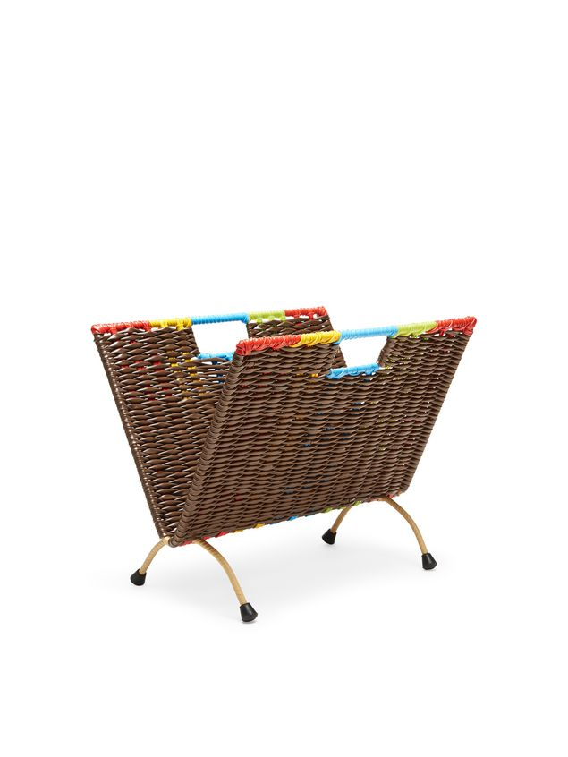 Marni MARNI MARKET brown, red, green, blue and yellow magazine rack in PVC  Man - 2