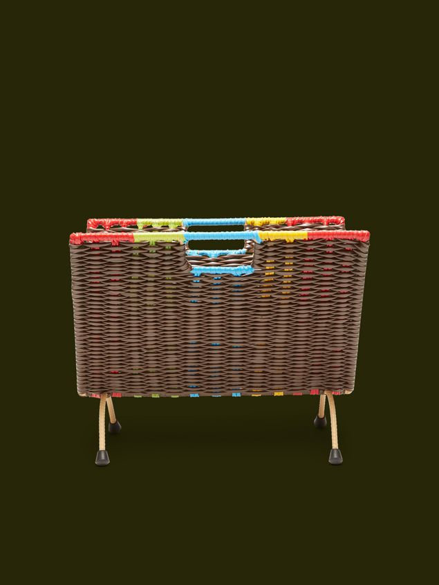 Marni MARNI MARKET brown, red, green, blue and yellow magazine rack in PVC  Man - 1